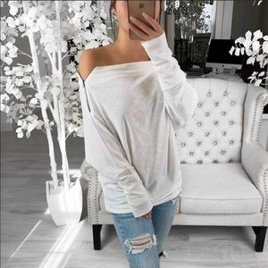 Dolman white top